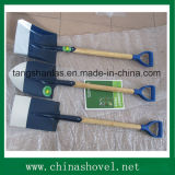 Shovel Farming Tool Wooden Handle Shovel Spade with Plastic Grip