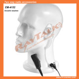 Acoustic Tube Earpiece with Large Ptt for Two Way Radio