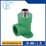 Bathroom Pipe Fittings PPR Male Threaded Elbow with Disk