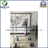 Wheeled Zinc Plated Wire Mesh Container Cart