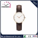 2015 Custom Logo Super Slim Wrist Watch/Leather Band (DC-1421)