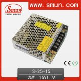 Single Output Switching Power Supply 25W 15VDC AC/DC CE RoHS