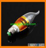 Transparent E27 5W Aluminum LED Candle Bulb