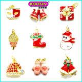 Lovely Enamel Custom Made Christmas Metal Bulk Jewelry Gold Pendant