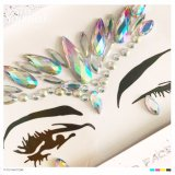 2017 New Fashion Crystal Ab Diamond Face Gem Stickers Acrylic Crystal Stickers (S034)