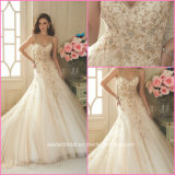 Strapless Bridal Ball Gown Hand Sew Beads Wedding Dresses Z606