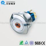 28mm 1no Nc/2no 2nc Resetable Self-Locking Flat DOT Illuminated IP67 Ik10 Push Button Switch
