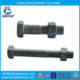DIN933 Carbon Steel HDG Hex Bolt and Nut (M6-M16)