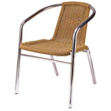 Professional Supplies Cafe Aluminum Wicker Dining Chair (DC-06210)