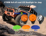 "J104 6"" 60W LED Lamp for Jeep Truck SUV UTV"