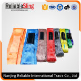 Cargo Lifting Rigging Hardware Double Ply Polyester Webbing Sling