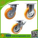 New Design Yellow PU Caster Wheels