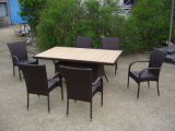2-Years of Warranty Hotel Garden Outdoor Patio Dining Furniture (FS-2051+2053)