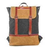 Leather Canvas Student School Bag (RS2009B)
