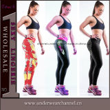 Printed Women′s Sports Wear Fitness Tights Yoga Gym Leggings (TYDC014)