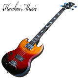 Hanhai Music / Left Handed Sg Style Electric Bass Guitar with 4 Strings