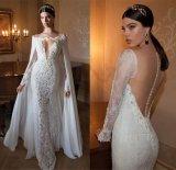 Berta Wedding Dresses Long Sleeve Shawl Lace Bridal Gowns Y1005