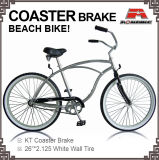 26 Inch Alloy Frame Kt Coaster Brake Beach Criser Bicycle (ARS-2602A)