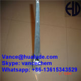 Galvanized or Powder Coated Ground Pole Anchor with Anchor Bolt