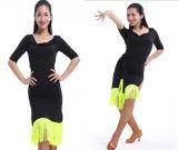 New Autumn Tassels Latin Dance Dress, Performance Clothing, Racing Suit