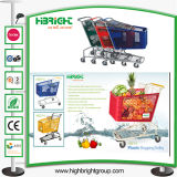 Popular American Style Supermarket Plastic Shopping Cart