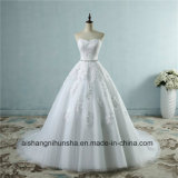 Sweetheart Lace Flower Fashion Sexy Wedding Dress for Brides