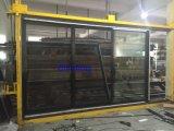 Powder Coated Grey Color Aluminum Sliding Door with Crim Screen