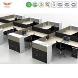 Guangzhou Office Furniture 4 Person Cross Frame Workstation
