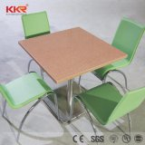4 Person Acrylic Solid Surface Tables and Chairs for Restaurant