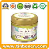 Round Metal Tin Tea Can for Tea Caddy Packaging Box