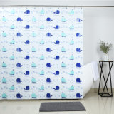 Water Repellent Bath PEVA Shower Curtain with Mold Free
