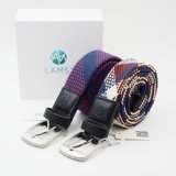 Fashion Braided Polyester Web Waist Elastic Belts for Men
