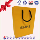 China Supplier Top Quality Gold Card Paper Shopping Bag, Shoes Bags, Paper Bag