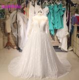 Lace Bridal Ball Gowns Long Sleeves Plus Size Wedding Dresses Bl8403