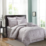 Light Purple Nice Design Home Jacquard Bedding Set