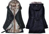 New Style Women 3 in 1 with Hood and Faux Fur Coats (17208)