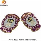 Cute Round Clown America Soft Enamel Gold Lapel Pin Badge