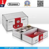 Metal Material Silver Color 8 Adjustable Cells Seal Box