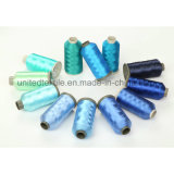 100% Polyester Embroidery Threads with 150d/48f/2 with 380tpm