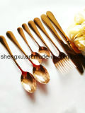Chinese Design Stainless Steel Rose Gold Dinnerware Cutlery Set Sx-Rg002