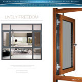Aluminium Fixed Windows Mix Casement Windows and with Fly Screen