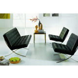 Elegant Office or Lobby or Lounge Area Leather Sofa (SF-1016)
