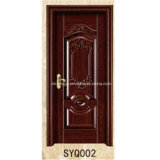 Solid Wood Skeleton Non-Painting PVC Film Finished Interior Wood Door