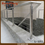 Outdoor Wire Rope 304 Stainless Steel Balcony Baluster (SJ-S051)