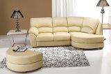 Modern Leather Corner Sofa (608)