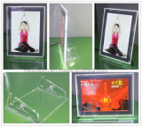 Landscape Portrait Table-Top LED Acrylic Photo Frame with Acrylic Stands