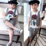 Boy′s Fashion Check Cotton 3 Pieces Suit