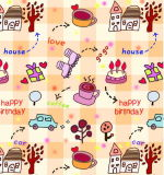 Cartoon Gift Wrapping Paper, Suitable
