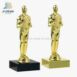 Top Sell Promotional Gift Gold Custom Oscar Award Trophy for Souvenir