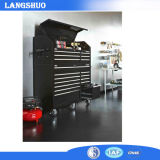 Heavy-Duty, Drawer 18 Tool Chest 52 in. and Rolling Tool Cabinet Set, Black, Offers Unique Storage for Your Longer Items and The Deep Cabinet Drawers Include Do